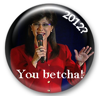 Sarah Palin impersonator campaign button